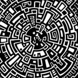 Διανυσματική απεικόνιση ενός αφηρημένου κυκλικού λαβυρίνθου απεικόνιση αποθεμάτων