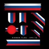 Διανυσματική απεικόνιση σχεδίου προτύπων σημαιών κορδελλών της Ρωσίας ελεύθερη απεικόνιση δικαιώματος