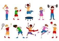 Διανυσματικός αθλητισμός παιδιών διανυσματική απεικόνιση