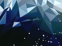 Διανυσματικό αφηρημένο σκούρο μπλε Polygonal υπόβαθρο διανυσματική απεικόνιση