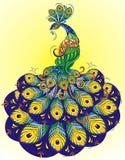 Διανυσματικό διακοσμητικό Peacock διανυσματική απεικόνιση