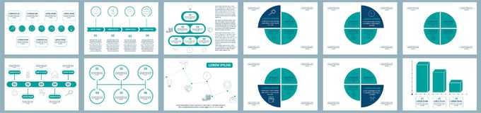Διανυσματικό σύνολο infographics Συλλογή των προτύπων για το διάγραμμα κύκλων, τη γραφική παράσταση, την παρουσίαση και το στρογγ απεικόνιση αποθεμάτων