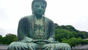 Διασημότερο ορόσημο σε Kamakura - ο μεγάλος Βούδας Daibutsu απόθεμα βίντεο
