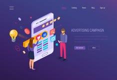 διαφημιστική καμπάνια Ψηφιακά μέσα που εμπορεύονται, σε απευθείας σύνδεση επιχείρηση, έρευνα μάρκετινγκ ελεύθερη απεικόνιση δικαιώματος