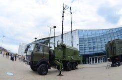 Διεθνής έκθεση MILEX των όπλων και του στρατιωτικού εξοπλισμού: Κινητός σύνθετος για τη νοημοσύνη, στοκ φωτογραφίες με δικαίωμα ελεύθερης χρήσης
