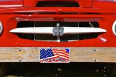 Διεθνής κόκκινη σχάρα φορτηγών στοκ φωτογραφίες