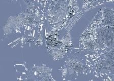 Δορυφορική άποψη της Βοστώνης, του χάρτη της πόλης με το σπίτι και της οικοδόμησης ουρανοξύστες Μασαχουσέτη ΗΠΑ απεικόνιση αποθεμάτων