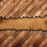 Δύο συνδυασμένα ξύλινα στοιχεία για το σχέδιο και το εσωτερικό με το ξύλινη υπόβαθρο ή τη σύσταση διανυσματική απεικόνιση