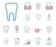 Δόντι & οδοντιατρική - Iconset - εικονίδια διανυσματική απεικόνιση