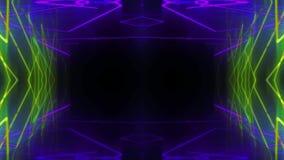 Δυναμικός ελαφρύς σκηνικός 4k βρόχος νέου απεικόνιση αποθεμάτων