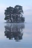 Île écossaise obscure image stock