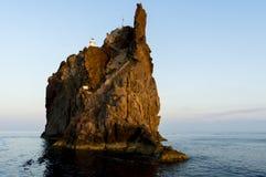 Île éolienne Image libre de droits