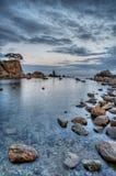 Île 2 de coucher du soleil Images libres de droits