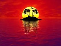 Île 3d Photos libres de droits
