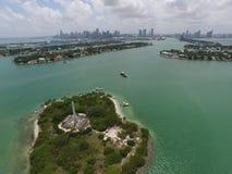 Île aérienne Miami Beach de monument de photo Photographie stock libre de droits
