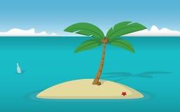 Île abandonnée illustration libre de droits