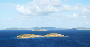 Île abandonnée dans les Caraïbe Photos libres de droits