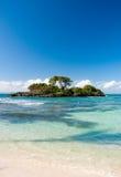 Île abandonnée des Caraïbes Photos stock