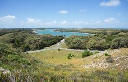 île au-dessus de la vue scénique rottnest Images stock