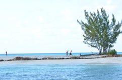 Île au milieu de l'océan Photo libre de droits