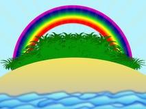 Île avec des paumes Images libres de droits