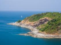 Île avec la vue d'océan Images libres de droits