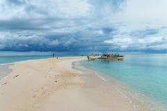 Île blanche (île de Medano), Philippines Images libres de droits
