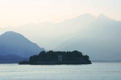Île bleue Image libre de droits