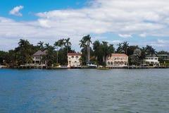 Île d'étoile dans la ville de Miami Photo libre de droits