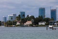 Île d'étoile dans la ville de Miami Image libre de droits