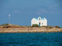 Île d'Afentis Christos près de l'île de Crète, Grèce photos libres de droits
