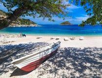 Île d'Agios Nikolaos Port Zakynthos La Grèce, Zakynthos Photographie stock libre de droits