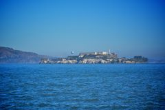 Île d'Alcatraz à San Francisco Photographie stock