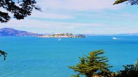 Île d'Alcatraz Images libres de droits