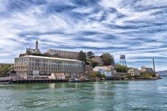 Île d'Alcatraz de l'eau Photos libres de droits