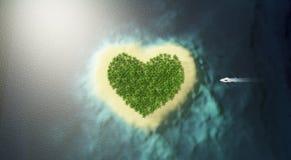 Île d'amour Photographie stock libre de droits