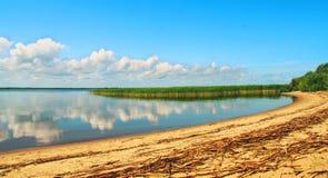 Île d'amour dans le lac Pskov Photos libres de droits