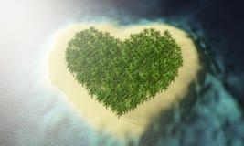 île d'amour de paradis Images stock