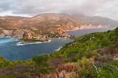Île d'Asos photographie stock libre de droits