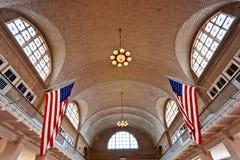 Île d'Ellis, New York, Etats-Unis. photographie stock libre de droits