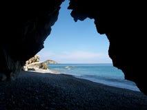 Île d'Euboea en Grèce Images libres de droits