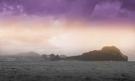 Île d'hélicoptère, EL Nido de paradis Photo stock