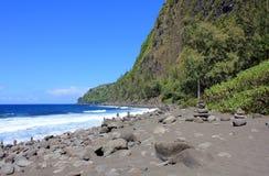 Île d'Hawaï de littoral rocailleux grande Photographie stock libre de droits