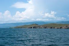 Île d'Ogoy, lac Baikal Photographie stock