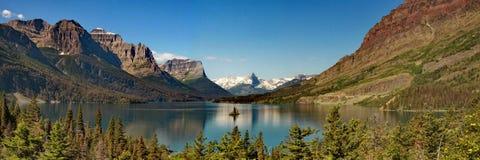 Île d'oie sur le lac Mary Photographie stock libre de droits