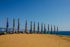 Île d'Olkhon sur le lac Baïkal photographie stock libre de droits