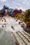 Île d'universels d'aventure Dudley Do-Right ; automnes de scie à guichet de s Image libre de droits