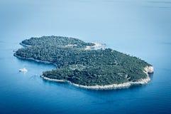 Île dalmatienne Photo stock