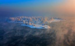 Île dans la ville d'Irkoutsk  Photos libres de droits