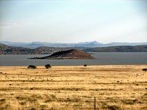 Île dans le barrage de Gariep Photographie stock